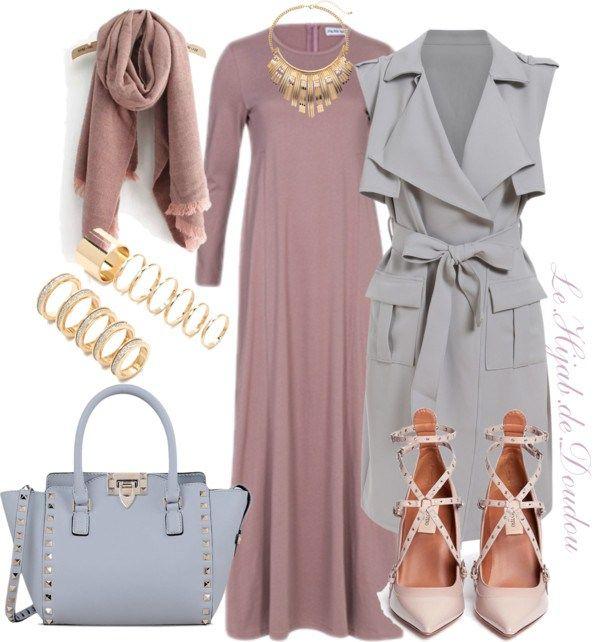 Hijab Outfit par le-hijab-de-doudou utilisant boucles d'oreilles grand format Manteau long €20–shein.com Valentino escarpins en cuir verni €915–lanecrawford.com Valentino stu…