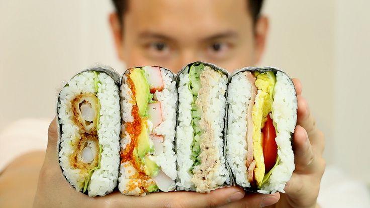 RICE SANDWICH ONIGIRAZU RECIPE - おにぎらずレシピ - COOKING WITH CHEF DAI