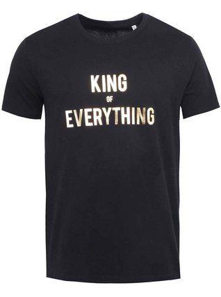 ZOOT Originál - Černé pánské triko  King of Everything - 1