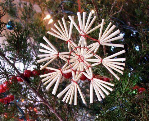how to make plastic straw stars