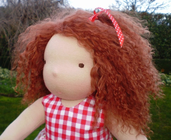 """Juliette a 12"""" Waldorf Steiner Doll  MADE and ready to go NOW"""