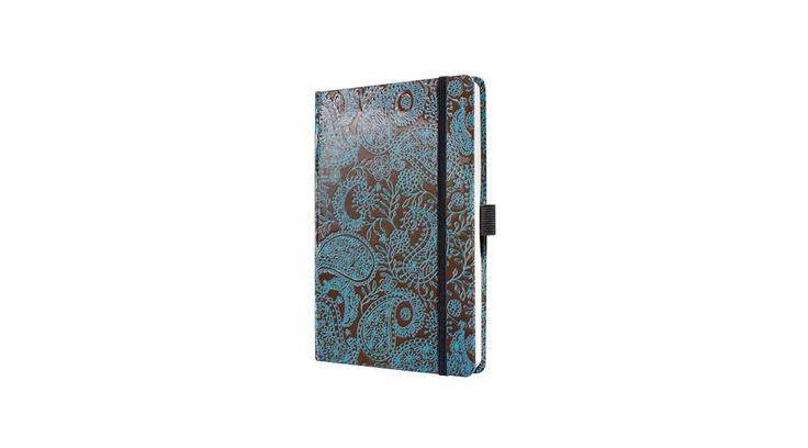 Jegyzetfüzet, exkluzív, A5, vonalas, 194 oldal, SIGEL Conceptum Posh Paisley - Jegyzetfüzetek - Hello 2015 Naptáráruház