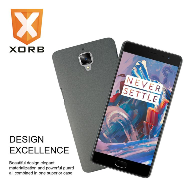XORB™ OnePlus 3 Hard Back Cover Sandstone Finish Slim Case for Oneplus 3 Grey