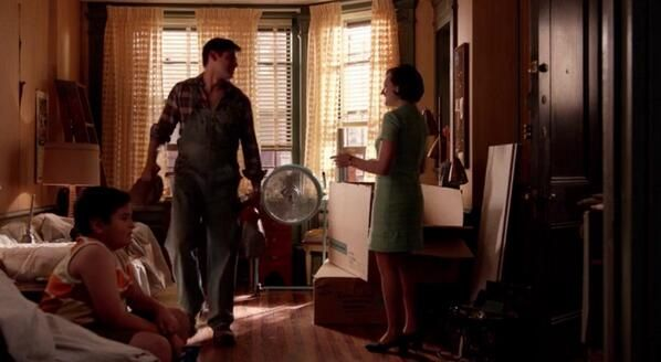"Nick the handyman, in Peggy's apartment: ""You got a lot of books."" Mad Men Season 7 Episode 7, ""Waterloo"" http://www.nypl.org/blog/2012/02/27/mad-men-reading-list"