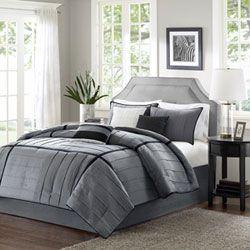 Bridgeport Gray Seven-Piece Queen Comforter Set