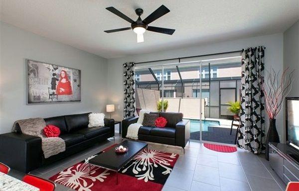 40 Stunning Modern Living Room Designs Bored Art Red Living Room Decor Black And Red Living Room Black Living Room