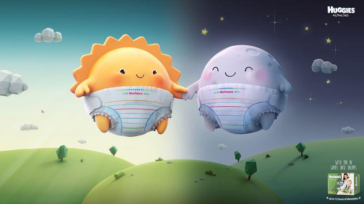 Huggies: Bus, Train, Sun and Moon 3