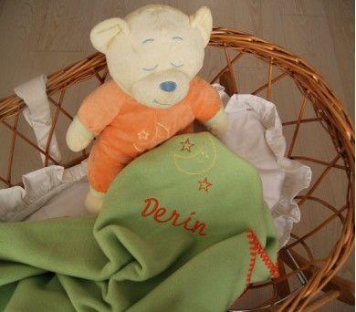 evimli ayıcık ve battaniye bebekler için güzel bir uyku arkadaşı ikilisi!