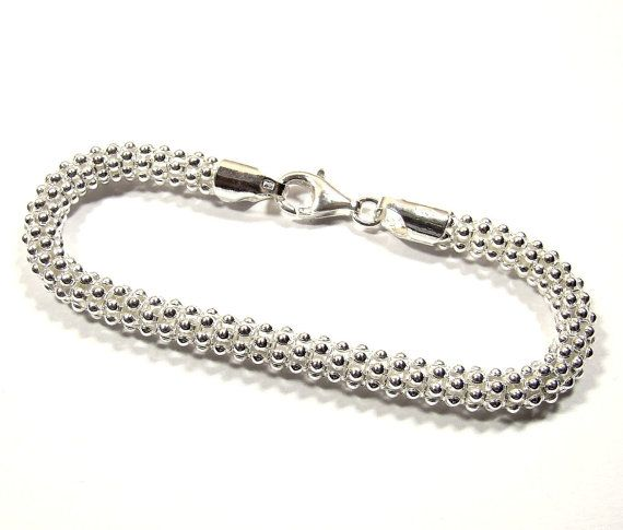 POPCORN 6MM  streling silver 925 bracelet  Length by DawidPandel