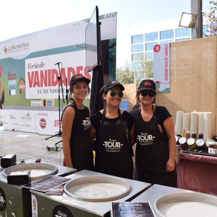 Con el mejor equipo partiendo el fin de semana en Feria Vanidades !! Vengan. Los esperamos :)  #FeriaDeVanidades #iscream #helado #rico