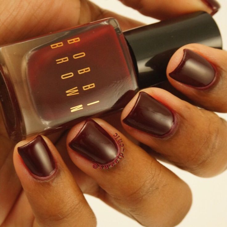 80 best nails style for black girls images on pinterest ebony bobbi brown nail polish in bordeaux follow me on instagram sweetpchic for more prinsesfo Images
