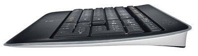 Logitech K800 Black USB RF Wireless Slim Illuminated Keyboard