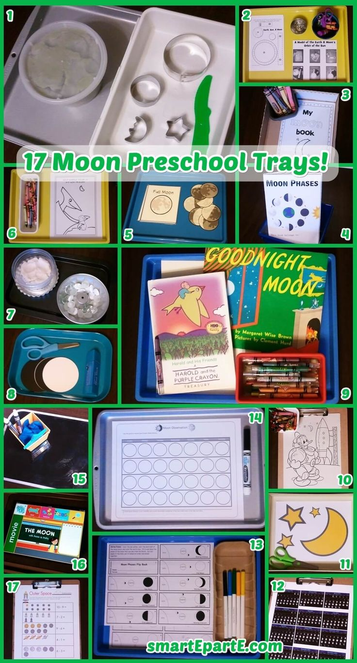 Look to the skies and learn with our 17 Moon Preschool Trays! We link to great resources and have some of our own easy ideas, too!