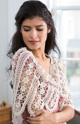 Wild Rose Shawl Free Pattern from Aunt Lydia's Crochet Thread