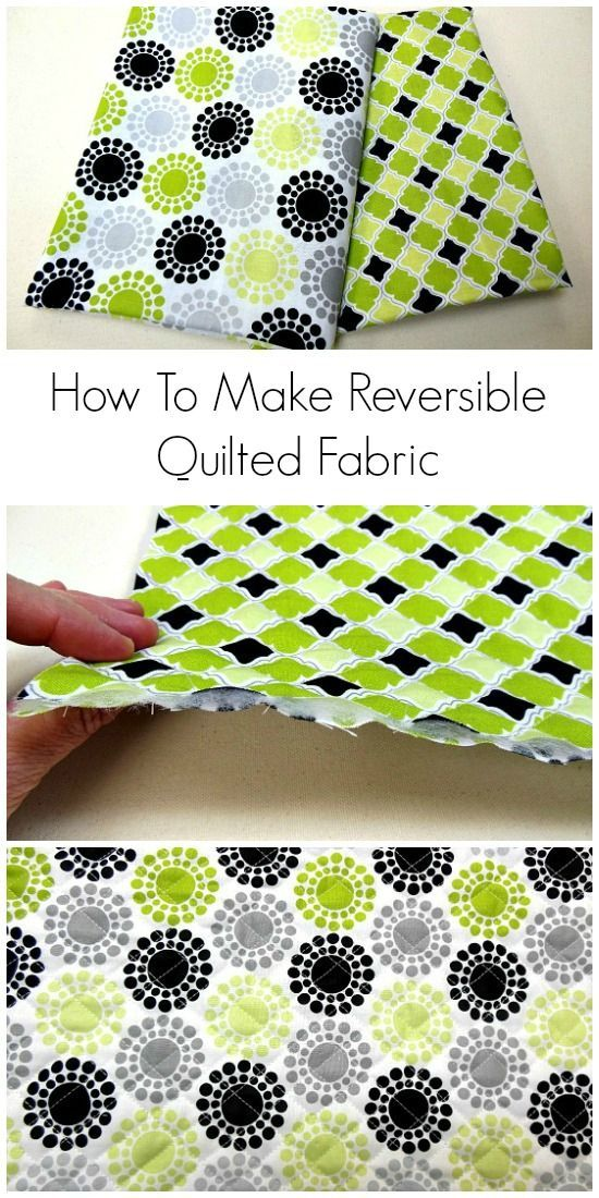 How To Make Your Own Reversible Quilted Fabrics from NewtonCustomInteriors.com. Learn how to make your own quilted fabrics to use for lots of different types of sewing projects. Detailed sewing tutorial with video!