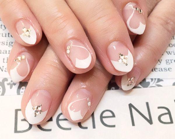 Nail Art - Beetle Nail : 八幡|ハートフレンチ #ネイル #ビートル近江八幡 #ビートルネイル #ネイル近江八幡
