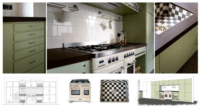 Keuken met cubex look renoveren pinterest vintage for Interieur 70 jaren