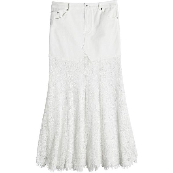 McQ Alexander McQueen Skirt (€540) ❤ liked on Polyvore featuring skirts, mini skirts, white, print mini skirt, white mini skirt, white camisole, white skirt and mcq by alexander mcqueen