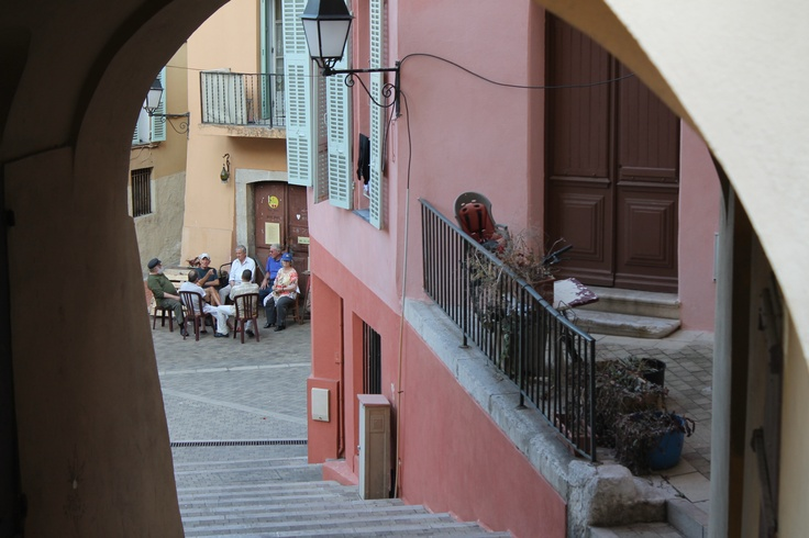 An alley way in Menton, France