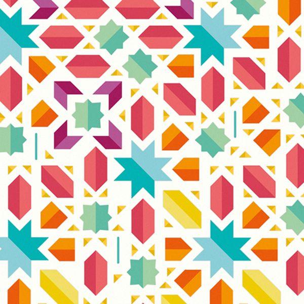 Muslim Mosaic / NGO Illustration by Cintia González, via Behance
