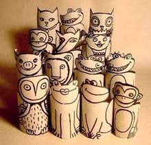 Bis (sur le même principe que les chouettes) : Création design en rouleaux de papiers toilette | Pomkipik