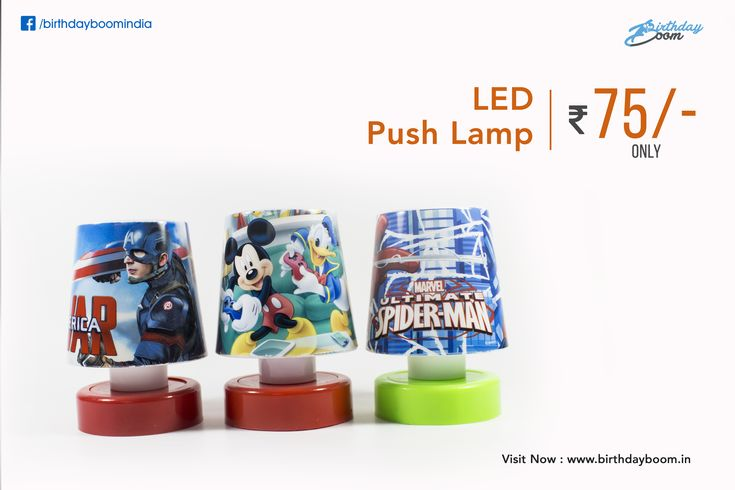 Best quality LED Push lamps for kids @ Rs. 75/- Only. Best birthday return gift for kids. Different Cartoon Themes.  Get it Here - www.birthdayboom.in/product/led-push-lamp-assorted  #birthdayboom #birthdayreturngifts #kids #children #birthdayparty #birthdayevent #partyfun #returngift #party