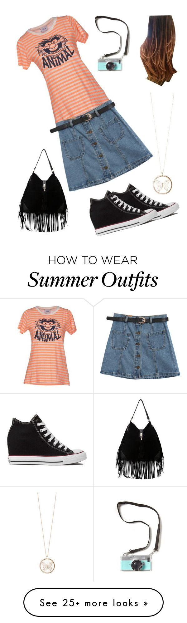 """""""Summer Day Outing Outfit"""" by cooljen13 on Polyvore featuring Disney, Chicnova Fashion, Accessorize and Converse"""