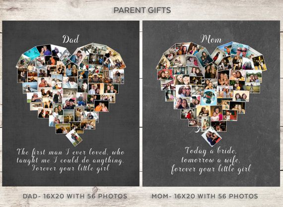 DAD Gift Parent's Personalized Photo Collage by YourLifeMyDesign