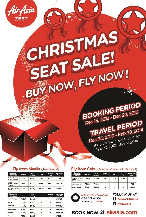 AirAsia Zest now offers 3X weekly flights to Kota Kinabalu from Cebu City - http://outoftownblog.com/airasia-zest-now-offers-3x-weekly-flights-kota-kinabalu-cebu-city/