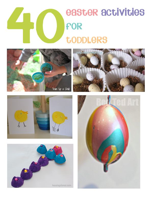 40 Easter activities for toddlers from rainydaymum