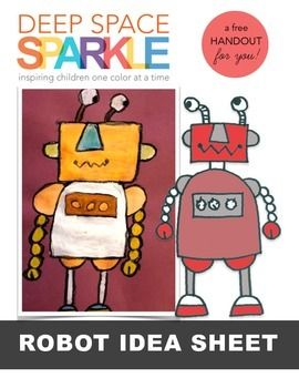 Free Robot Drawing Guide - Drawing robots is a great drawing activity for every age. You can use many different mediums to finish this drawing project. I have used black marker on white drawing paper, oil pastel and tempera paint and just oil pastels. You choose!