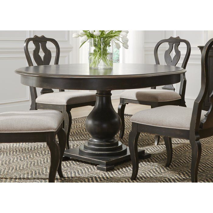 Darya Solid Wood Dining Table Birch Lane With Images Dining