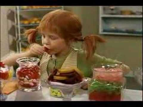 Pippi Longstocking movie montage. @Johnna Percell, did you ever see this movie? Watching it now, it's one of those moments where I'm realizing how much something from my childhood may have influenced the person I am now. A little bit Pippi.
