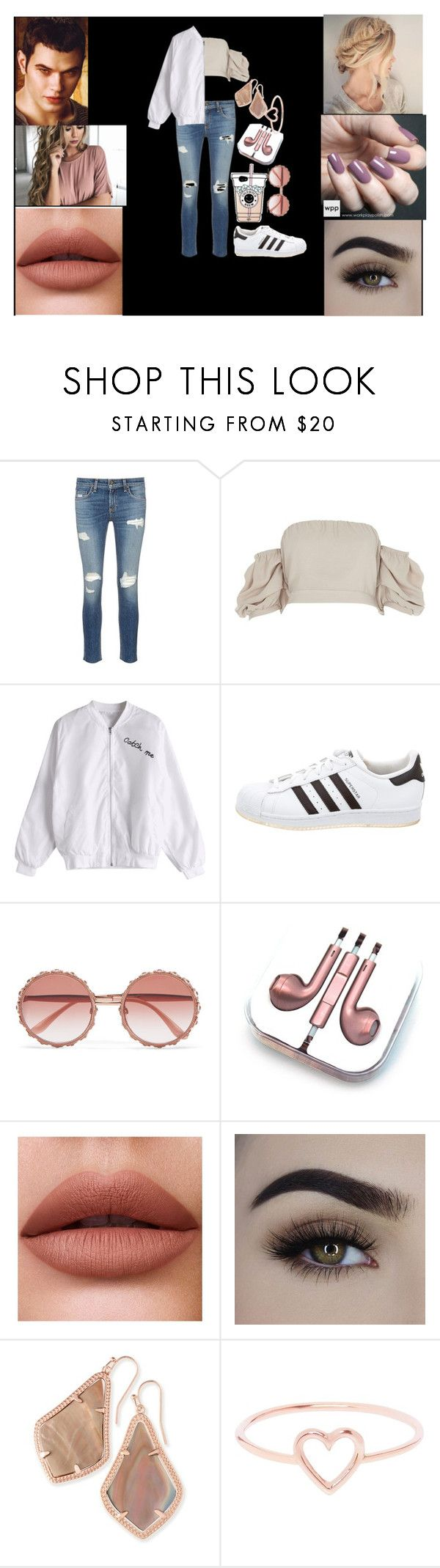 """Untitled #95"" by super-geeky-fangirl on Polyvore featuring rag & bone/JEAN, River Island, adidas, Dolce&Gabbana, PhunkeeTree, Zoya, Kendra Scott, Love Is and Cullen"