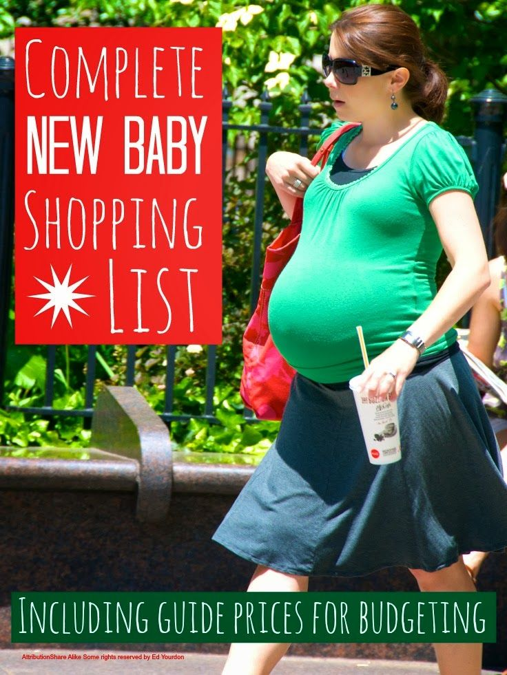 New baby shopping list ... a complete check list of everything you really need when you are expecting your first baby plus the nice to haves and price guides for each so you can work out a budget