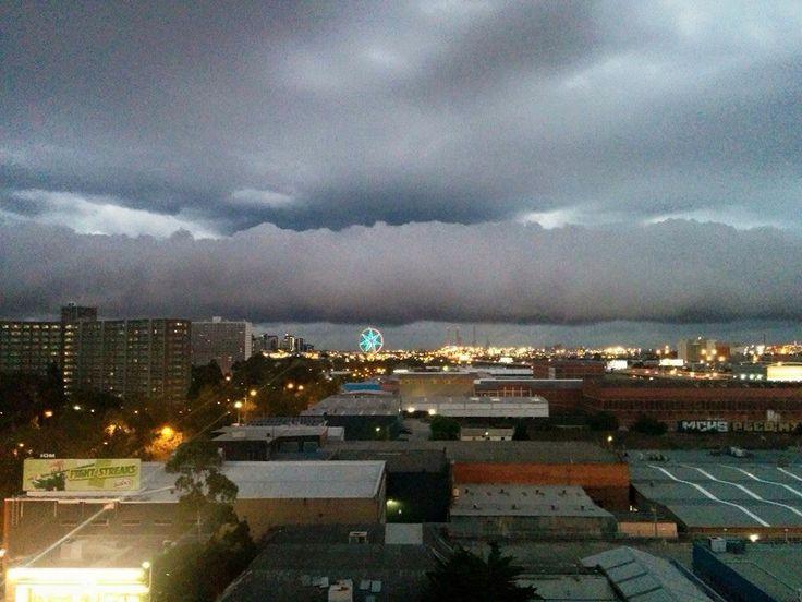 Storm over Melbourne