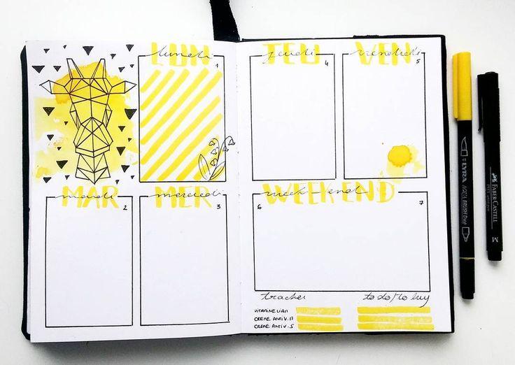 Bullet journal weekly layout // bujo