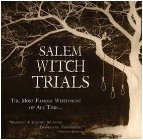 Hearings and prosecutions between 1692-1693 people accused of witchcraft in Colonial Mass. One of the most notorious cases of mass hysteria ever. 19 hanged, 1 pressed to death for failing to plead guilty or not guilty, 1 dog that was believed to be a transformed witch, 4 died in prison and possibly 13 others as well.