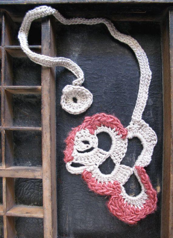 Crochet silk necklace www.wearitcrochet.com