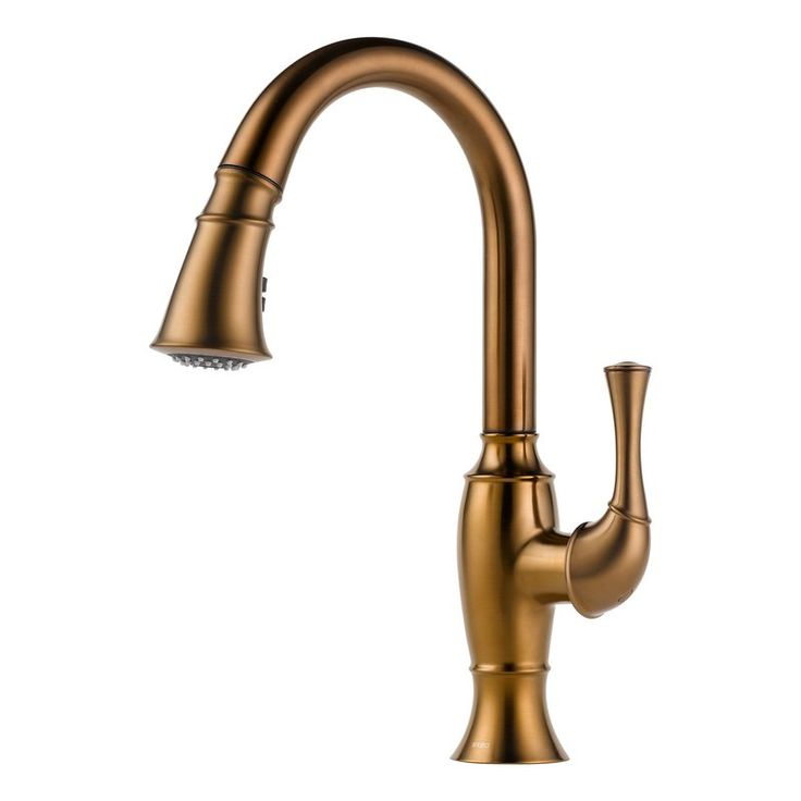 view the brizo 63003lf pullout spray high arc kitchen faucet with diamond seal magnedock - Kohler Armaturen L Eingerieben Bronze