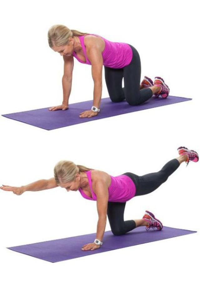 I'm not 50 yet but these look great for any age! 10 Must-Do Strength Training Moves For Women Over 50: Bird Dog