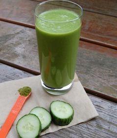 Gluten-free Cucumber Matcha Pineapple Smoothie via @We ♥ Fitness Goop