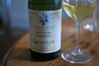 Pinot Gris d'Alsace, Grand Cru Geisberg, Domaine Kientzler, 2002 #DrinkAlsace