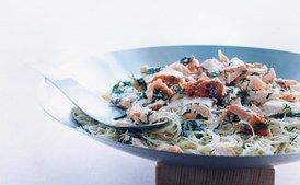 Capellini with Salmon and Lemon-Dill-Vodka Sauce
