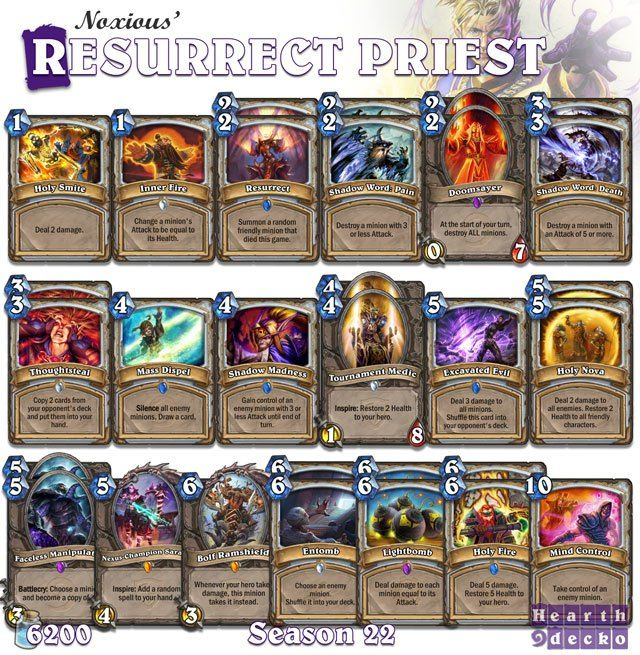 Priest Deck: 17 Best Images About Hearthstone On Pinterest