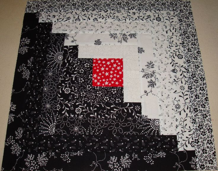 Neat idea for black and white quilt