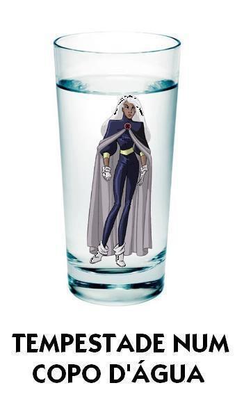 tempestade em um copo d'agua