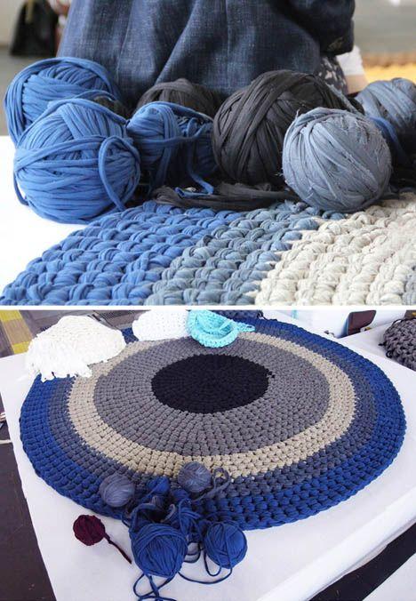 arm knit rug purple