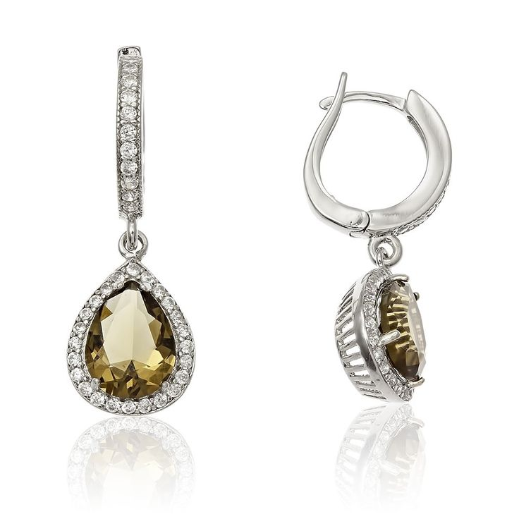 Cercei argint Latch Back Drop Earrings Zirconii Cod TRSE037