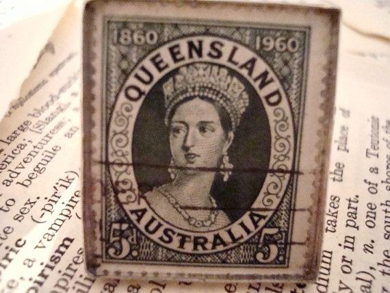 1960 Commemorative Queen Victoria Queensland by SilverGypsys, $48.00